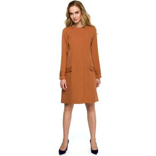 c3e7446908 S117 Sukienka trapezowa - ruda - porównaj zanim kupisz