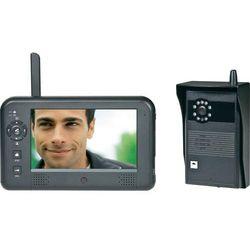 Video domofon bezprzewodowy 551319, Kompletny zestaw, Interkom drzwiowy z wideo, Dom jednorodzinny, Kolor: Czarny