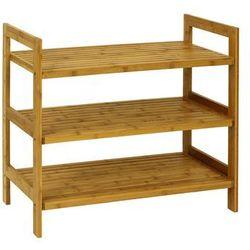 Półka na buty 3 piętra, bambusowa