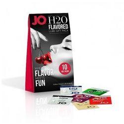 Zestaw zapachowych lubrykantów - System JO H2O Flavored Lube Foil Gift Pack