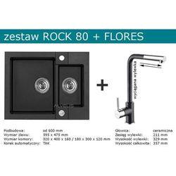 Zestaw AVLEUS ROCK 80 + FLORES (kolor CZARNY)