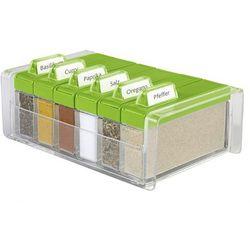Pudełko na przyprawy + 6 pojemników Spice Box zielone by Emsa