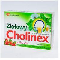 Cholinex Ziołowy smak dzikiej róży pastyl.do ssan. - 16 pastyl.