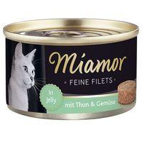 MIAMOR Feine Filets - filety mięsne smak: tuńczyk z warzywami 100g