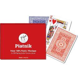 Karty do gry Piatnik 2 talie, Poker plastic