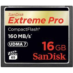 Karta pamięci SanDisk Compact Flash Extreme PRO 16GB (CF) 160MB/s 1067x