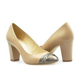 Pantofle Kotyl 7057 Beżowe