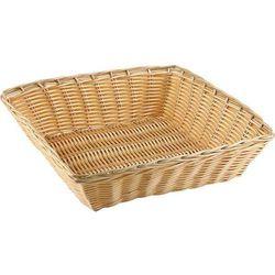 Kwadratowy Koszyk z Polirattanu | 240x240x60 mm