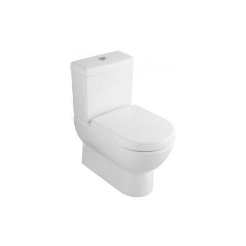Villeroy & Boch Subway, Miska ustepowa lejowa do WC-kompaktu, 370 x 670 mm, odplyw poziomy, model stojacy, do montazu blisko sciany, Star White Ceramicplus 661010R2