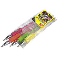 Długopisy żelowe fluorescencyjne 4 kolory