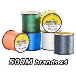 500M Brand Seanlure PE Braided Fishing Line Super Power 4 Stands 12-80 LB Free Shipping braided line
