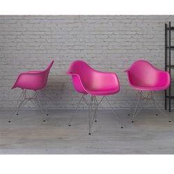Krzesło P018PP różowe chromowane nogi HF - różowy