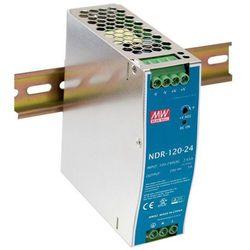 Zasilacz na szynę DIN Mean Well NDR-120-24, 5 A, 120 W, 1 x