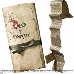 Kontrakt Bilbo Bagginsa z filmu Hobbit Noble Collection (NOB1295)