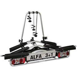 Platforma rowerowa na hak 4 rowery ALFA 3+1 + GRATIS