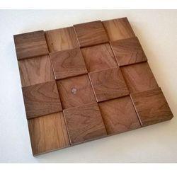 Panele drewniane Orzech Kostka gładka Big 3D *018 - Natural Wood Panels