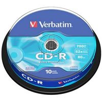 Płyty Verbatim CD-R 700MB 52X Extra Protection Cake 10