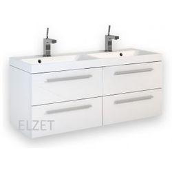 ELITA Kwadro White dwie szafki 60 + umywalka 120 z dwiema komorami 162324.22054007