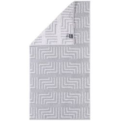 Cawö Frottier ręcznik Decor biały, 30 x 50 cm