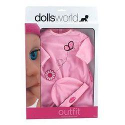 Ubranka deluxe + czapeczka różowy mix