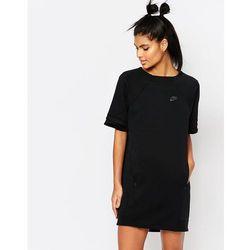 Nike Luxury Fleece T-Shirt Dress - Black