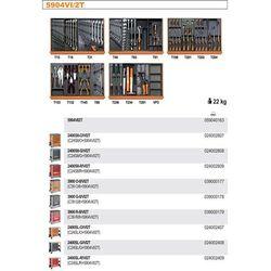 WÓZEK NARZĘDZIOWY 2400/C24S8 Z ZESTAWEM NARZĘDZI, 151 ELEMENTÓW, MODEL 2400S8-R/VI2T, CZERWONY
