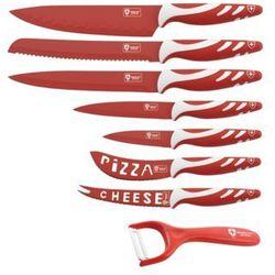 7 Elem. Zestaw Noży z Kolorową Powłoką + Obieraczka - RL-COL7 RED