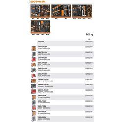WÓZEK NARZĘDZIOWY 2400/C24S7 Z ZESTAWEM NARZĘDZI, 152 ELEMENTY, MODEL 2400S7-R/VU2M, CZERWONY