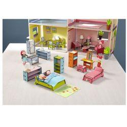 HABA Little Friends Akcesoria do domku dla lalek: Kompletny zestawmebelków do domku Villa Sonnenschein 300511