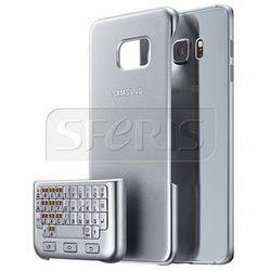 Etui SAMSUNG z klawiaturą QWERTY do Galaxy S6 Edge plus srebrna - EJ-CG928BSEGWW