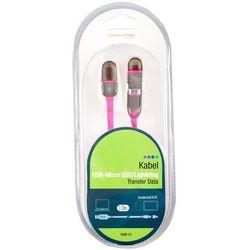 Kabel ARKAS IMB 10 USB 2.0 Micro USB/Lightning Różowy
