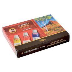 Koh-I-Noor, Farby akrylowe, 6 kolorów Darmowa dostawa do sklepów SMYK
