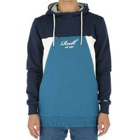 bluza REELL - Color Block Hoodie Navy/Petrol/Cream (NAVY-PETROL-CREAM) rozmiar: S