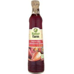 NATUR FARM 700ml Syrop owocowy z sokiem truskawkowym aż 33% soku