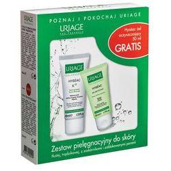 Uriage - Hyseac K18 + Hyseac Gel Nattoyant - Krem do skóry tłustej i trądzikowej + Żel oczyszczający - 40 ml+ 50 ml