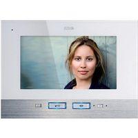Domofon m-e modern-electronics VDV 507 WW, Jednostka wewnętrzna, Interkom drzwiowy z wideo, Dom jednorodzinny, Kolor: Biały, Stali szlachetnej
