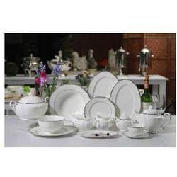 Zestaw obiadowy dla 12 osób porcelana Desire Platinum, platynowe zdobienia