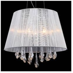 Żyrandol LAMPA wisząca ISLA MDM1869-3 WH Italux abażurowa OPRAWA kryształowa crystal biały