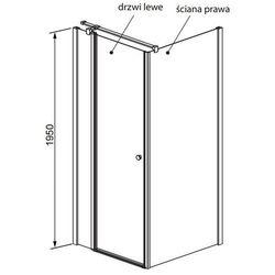Radaway Eos II ścianka boczna 80 cm S2 3799430-01R prawa