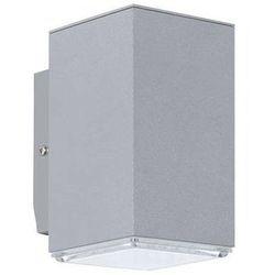 Zewnętrzna LAMPA ścienna TABO 94185 Eglo aluminiowa OPRAWA ogrodowa LED IP44 outdoor kostka aluminium srebrny