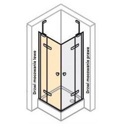 Drzwi do ścianki bocznej LEWE Huppe Enjoy ELEGANCE 120 cm,montaż na brodziku, profil srebrny mat, szkło przeźroczyste z powłoką Anti-Plague 3T0105.087.322