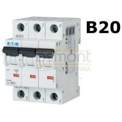 Eaton Wyłącznik nadprądowy 3P B20A CLS6-B20/3 (4094)