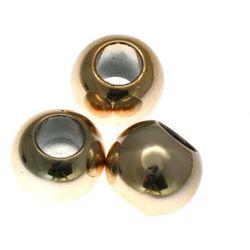 Koraliki Przekładki Akrylowe Kula Platerowane Kc Gold Złoty 18mm 20szt