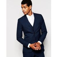 Selected Homme Luxe Tonal Check Suit Jacket in Skinny Fit - Blue