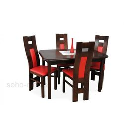 ZESTAW KRONOS stół i 4 krzesła FORNIR / ROZKŁADANY / TANIO