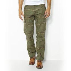 Wzorzyste spodnie bojówki w 100% z bawełny
