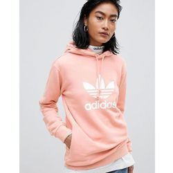 adidas Originals Trefoil Oversized Sweatshirt In Cream Pink
