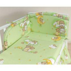 MAMO-TATO pościel 3-el Drabinki z misiami na zielonym tle do łóżeczka 70x140cm