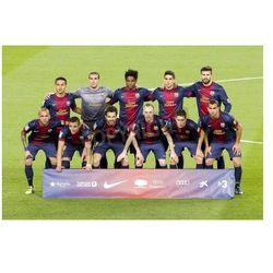 Fototapeta BARCELONA - APRIL 6: FCB players posing for photos at Spanish league match between FC Barcelona and RDC Mallorca,