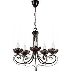 ROSA 10 zwis - żyrandol czarny / lampa wisząca